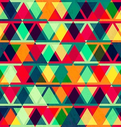 Vintage triangle seamless texture vector
