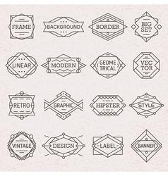 Modern hipster linear frames borders vector