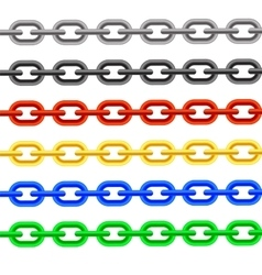 Colorful chain vector