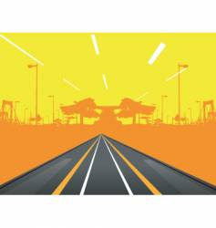Urban road design vector