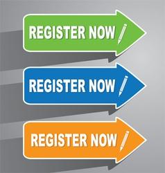 Register now paper labels vector
