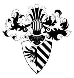 Knight helmet and shield vector