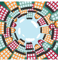 Colorful spherical town vector