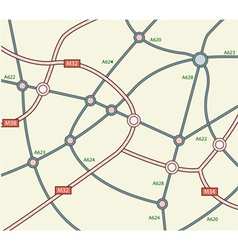 Abstract road map vector