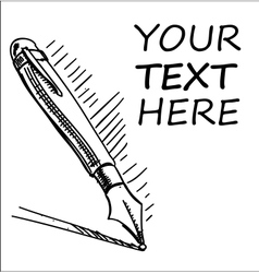 Ink pen with sample text vector