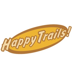 Happy trails vector