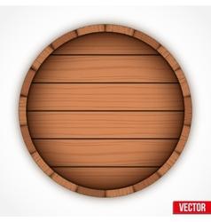 Set of wooden casks for alcohol drinks emblem vector