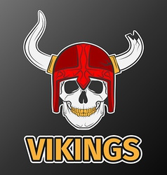 Skull viking vector