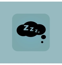 Pale blue sleeping icon vector