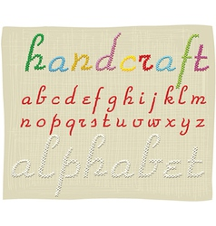 Handcraft alphabet - small letters vector