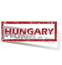 Hungary outlined stamp vector