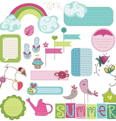 Summer design elements vector