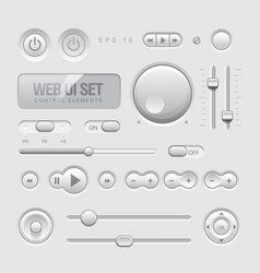 Web ui elements vector