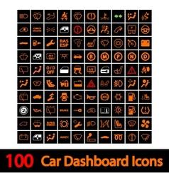 100 car dashboard icons vector