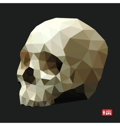 Human skull in a triangular style vector