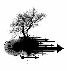 Tree silhouette element vector