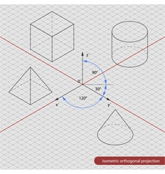 Isometric projection grid vector