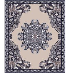 Oriental floral ornamental carpet design vector