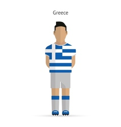 Greece football player soccer uniform vector