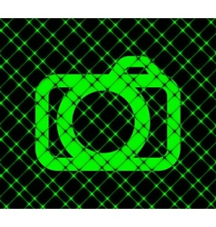 Camera flat modern web button and space for your vector