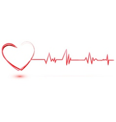 Heart with cardiology vector
