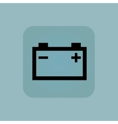 Pale blue accumulator icon vector