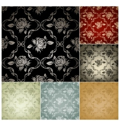 Seamless pattern set of six colors vector