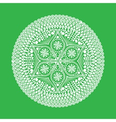 Round lace doily background for sewing arts crafts vector