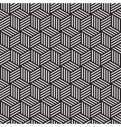 Bold cube pattern background black white vector