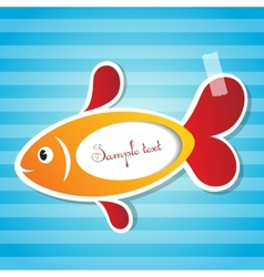 Fish sticker with tape vector