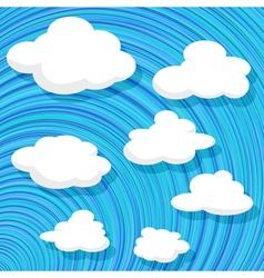 Cartoon style clouds vector