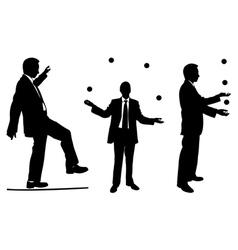 Jugglers in suits vector