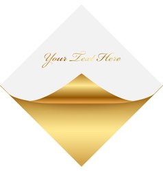 Gold gold square memo vector