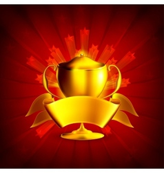 Golden prize background vector