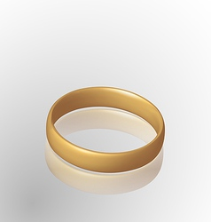Jewelry golden ring with reflection vector
