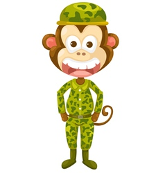 Monkey army vector