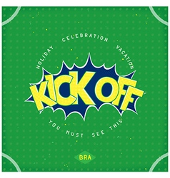 Kick off football vector