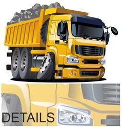 Cartoon dump truck vector