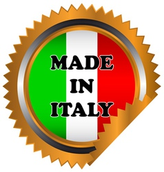 Made in italy icon vector
