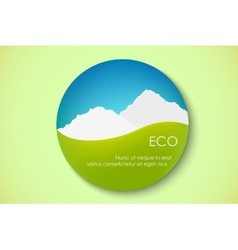 Icon of pure nature vector