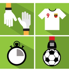 Soccer icon set iii vector