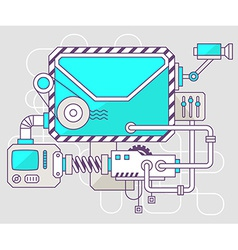 Industrial of the mechanism of envelope col vector