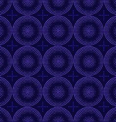 Seamless pattern of blue circles halfton vector