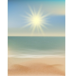 Beach and tropical sea with bright sun eps 10 vector