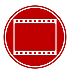 Film strip button vector