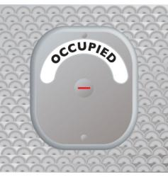 Secure door occupied vector
