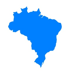 Map of brazil vector