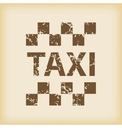 Grungy taxi icon vector