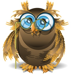 Owl and lorgnette vector