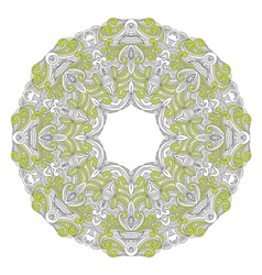 Ornamental round lace patternarabesque designs vector